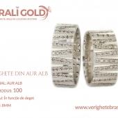 Verighete din aur alb - Cod Produs: 100