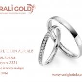 Verighete din aur alb - Cod Produs: 2321