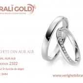 Verighete din aur alb - Cod Produs: 2322