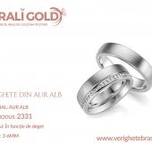 Verighete din aur alb - Cod Produs: 2331