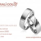 Verighete din aur alb - Cod Produs: 2332