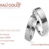 Verighete din aur alb - Cod Produs: 2335