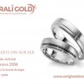 Verighete din aur alb - Cod Produs: 2336
