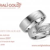 Verighete din aur alb - Cod Produs: 2337
