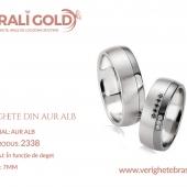 Verighete din aur alb - Cod Produs: 2338