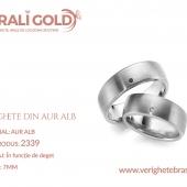 Verighete din aur alb - Cod Produs: 2339