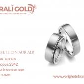 Verighete din aur alb - Cod Produs: 2342