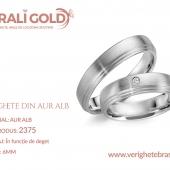 Verighete din aur alb - Cod Produs: 2375