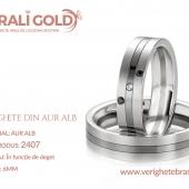 Verighete din aur alb - Cod Produs: 2407