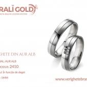 Verighete din aur alb - Cod Produs: 2410