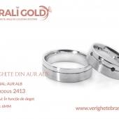 Verighete din aur alb - Cod Produs: 2413