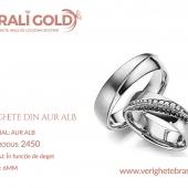 Verighete din aur alb - Cod Produs: 2450