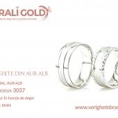 Verighete din aur alb - Cod Produs: 3037
