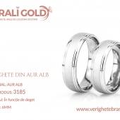 Verighete din aur alb - Cod Produs: 3185