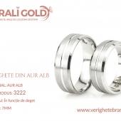 Verighete din aur alb - Cod Produs: 3222