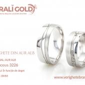 Verighete din aur alb - Cod Produs: 3226