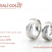 Verighete din aur alb - Cod Produs: 3290
