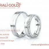 Verighete din aur alb - Cod Produs: 33