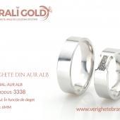 Verighete din aur alb - Cod Produs: 3338
