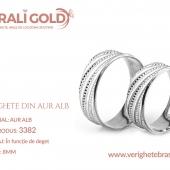 Verighete din aur alb - Cod Produs: 3382