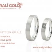 Verighete din aur alb - Cod Produs: 3388