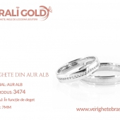 Verighete din aur alb - Cod Produs: 3474