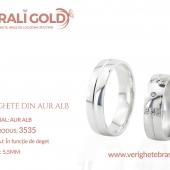 Verighete din aur alb - Cod Produs: 3535
