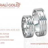 Verighete din aur alb - Cod Produs: 518
