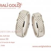 Verighete din aur alb - Cod Produs: 53