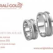 Verighete din aur alb - Cod Produs: 551