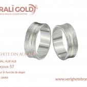 Verighete din aur alb - Cod Produs: 57