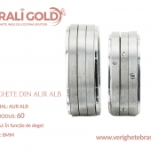 Verighete din aur alb - Cod Produs: 60