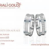 Verighete din aur alb - Cod Produs: 625