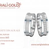 Verighete din aur alb - Cod Produs: 665