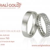 Verighete din aur alb - Cod Produs: 765