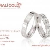 Verighete din aur alb - Cod Produs: 774