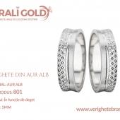 Verighete din aur alb - Cod Produs: 801