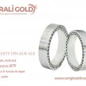 Verighete din aur alb - Cod Produs: 879