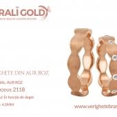 Verighete din aur roz - Cod Produs: 2118
