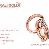 Verighete din aur roz - Cod Produs: 2353