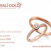 Verighete din aur roz - Cod Produs: 2363