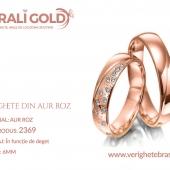 Verighete din aur roz - Cod Produs: 2369
