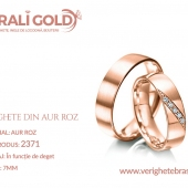 Verighete din aur roz - Cod Produs: 2371
