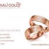 Verighete din aur roz - Cod Produs: 2395