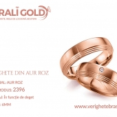 Verighete din aur roz - Cod Produs: 2396