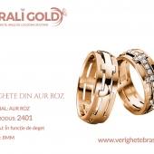 Verighete din aur roz - Cod Produs: 2401