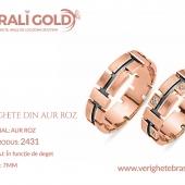 Verighete din aur roz - Cod Produs: 2431