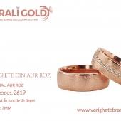 Verighete din aur roz - Cod Produs: 2619