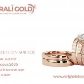 Verighete din aur roz - Cod Produs: 2636