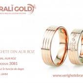 Verighete din aur roz - Cod Produs: 3081